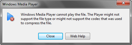 cannot play file